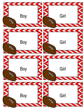 Name Tags - EDITABLE - Football Theme