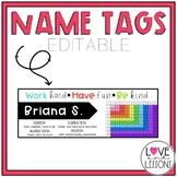 Name Tags (Editable)