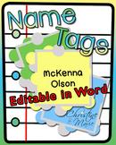 Name Tags - Editable