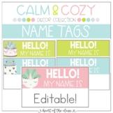 Name Tags {Editable} - Calm & Cozy Collection