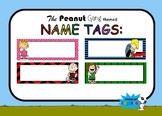 Name Tags Editable: Charlie Brown, Snoopy, Peanuts Gang Inspired