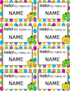 Name Tags {Editable} -Rainbow-