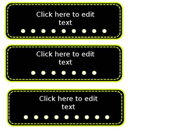 Name Tags - Editable and Bright