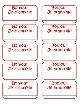 Name Tags - French