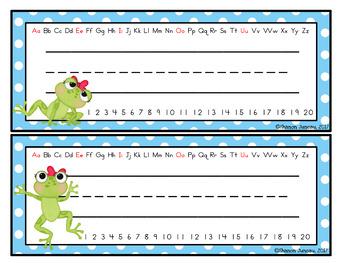 Name Tags (Frog Themed)
