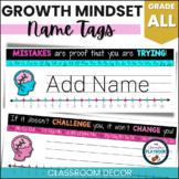 Growth Mindset Name Tags (Editable)