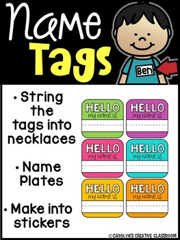 Name Tags - Hello my name is - Name Necklaces, Mini Name Plates