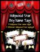 Desk Name Tags Hollywood Theme