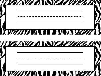 Name Tags Jungle Animal Print