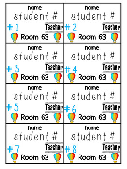Name Tags Kid Tags- Editable