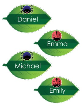 Name Tags Labels - Bug Theme