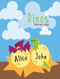 Name Tags Labels - Dinosaur Theme