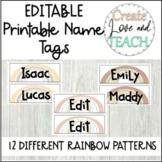 Name Tags Boho Rainbow Printable