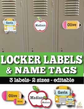 Name Tags & Locker Labels (Editable)