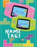 Name Tags Labels - Video Game Theme