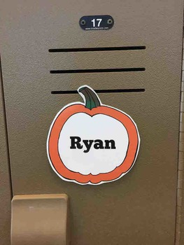 Fall & Thanksgiving Name Tags & Locker Labels (Editable)