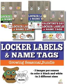 Name Tags and Locker Labels Bundle, Editable