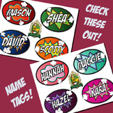 Name Tags - Locker Plates - Desk Assignment - Comic - Cartoon - Superhero