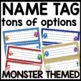Name Tags | MONSTER THEMED