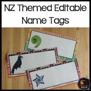 Editable Name Tags - Maori themed for New Zealand