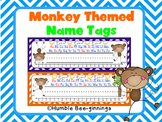 Name Tags - Monkey Themed