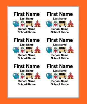 Name Tags-Name Badges- First Day of School or Field Trip