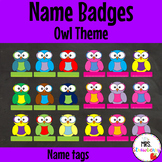 Owl Theme Name Tags Name Labels Name Badges