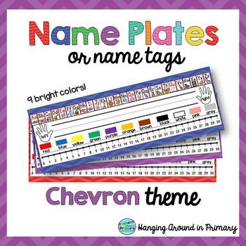 Name Tags / Name Plates ~ Chevron