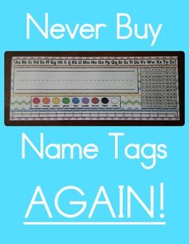 Name Tags - Name Plates - Chevron