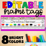 EDITABLE Name Tags / Name Plates - Chevron