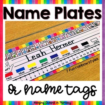 Name Tags / Name Plates ~ Rainbow