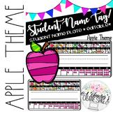 Name Tags/Name Plates for Pencil Box - Apple Theme *EDITABLE*