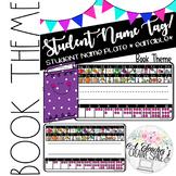 Name Tags/Name Plates for Pencil Box - Book Theme *EDITABLE*