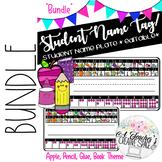 Name Tags/Name Plates for Pencil Box - Bundle *EDITABLE*
