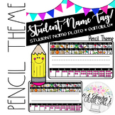 Name Tags/Name Plates for Pencil Box - Pencil Theme *EDITABLE*