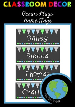 Name Tags - Ocean Flags