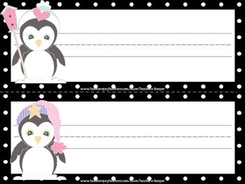 Name Tags - Perfectly Penguins FREEBIE!