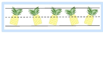 Name Tags- Pineapples and Palm Trees