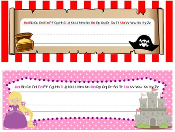 Name Tags - Princesses and Pirates Theme
