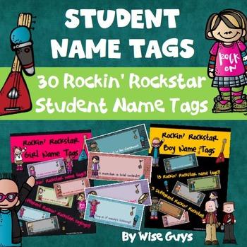 Desk Name Tags (Rockin' Rockstar Theme)