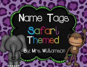 Name Tags- Safari Themed
