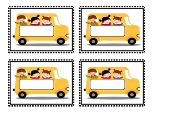 Back to School:  Editable Name Tags  School Bus