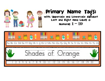 Name Tags: Shades of Orange