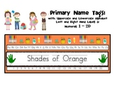 Name Tags: Shades of Orange
