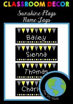 Name Tags - Sunshine Flags