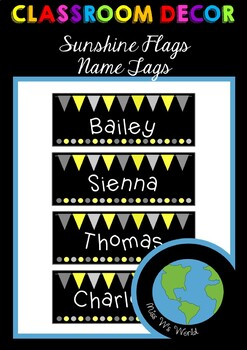 Name Tags - Sunshine Flags