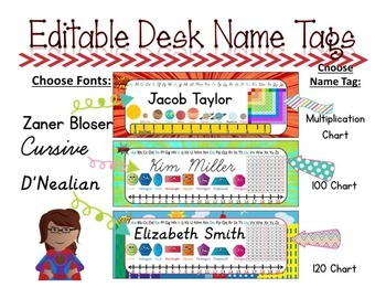 Editable Name Tags {Super Hero}
