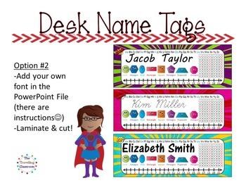 Editable Name Tags {Super Hero}