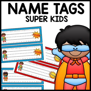 Name Tags (Superhero Themed)