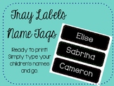 Name Tags/Tray Labels with Colourful Dot Border